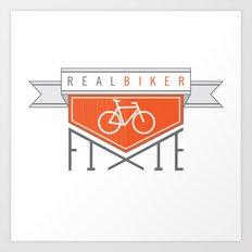 Real Biker Art Print