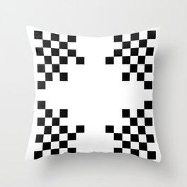 Pixels on White Throw Pillow
