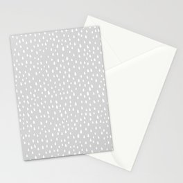 Light Gray Paint Drops Stationery Cards