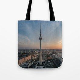 TV Tower at Sunset Tote Bag