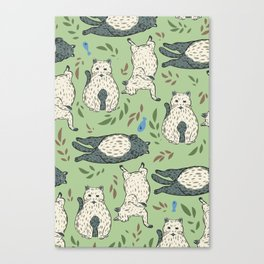 Chonks on parade Canvas Print