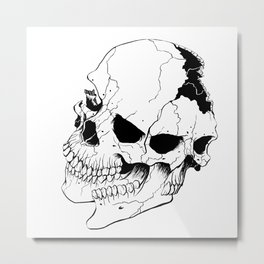 Skull #6 (Fragmented and Conjoined) Metal Print