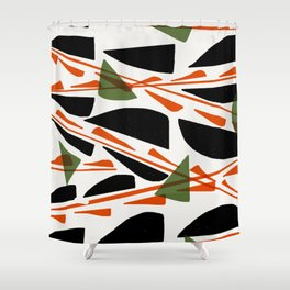Abstracted (option 2) Shower Curtain