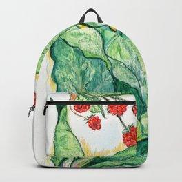 Rhubarb and Raspberries Backpack