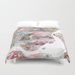Montreal map canada Duvet Cover