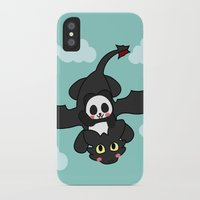 how to train your dragon iPhone & iPod Cases featuring How Panda Train Your Dragon by Pandakuma Store