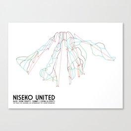 Niseko United, Japan - North American Edition - Minimalist Trail Art Canvas Print