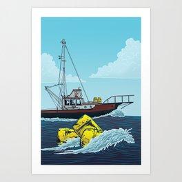 Jaws: Orca Illustration Art Print
