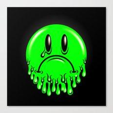 Slimey - neon green Canvas Print