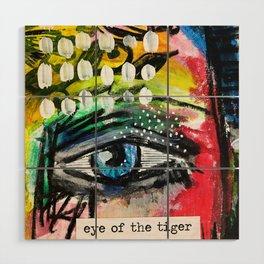 Eye of the Tiger Wood Wall Art