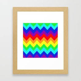 Rainbow Chevron Delight Framed Art Print