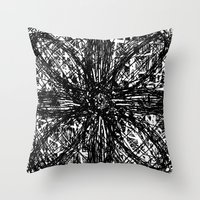 emily rickard Throw Pillows featuring Emily by Robin Maria Pedrero