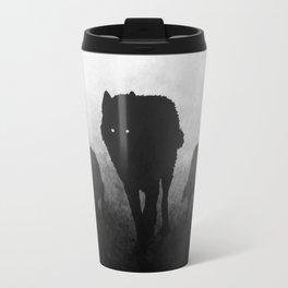 Black and White Wolfpack Travel Mug