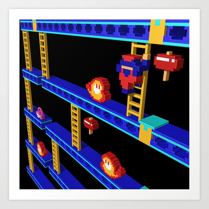 Inside Donkey Kong stage 4 Art Print