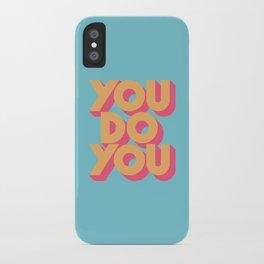 You Do You Retro Blue iPhone Case