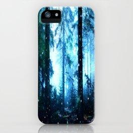 Fireflies Night Forest iPhone Case