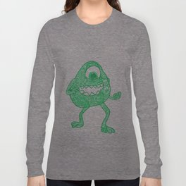 43. University Monster Mike in Halloween with Henna  Long Sleeve T-shirt