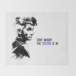 David Tennant Dr. Who - The Doctor is In Throw Blanket