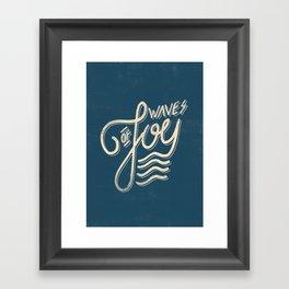Waves of Joy Framed Art Print