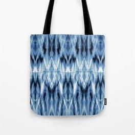 Blue Satin Shibori Argyle Tote Bag