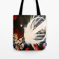 dbz Tote Bags featuring DBZ Galaxy by DrewzDesignz