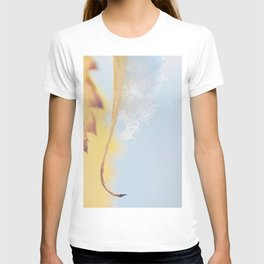 a snow covered leaf, as fall turns to winter. T-shirt