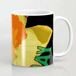 Happy St Davids Day Showy Spring Daffodil Coffee Mug