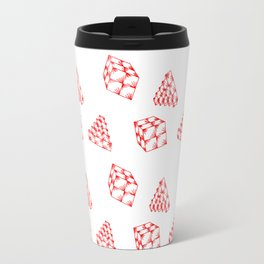 the pyramid and the cube . just elementary . Travel Mug