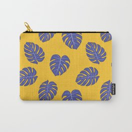 Monstera trendy - yellow purple Carry-All Pouch