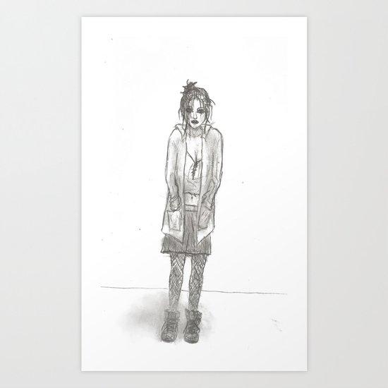 Black Days (sketch) Art Print