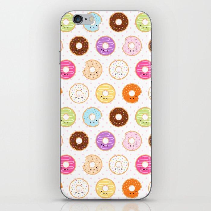 Happy Cute Donuts Pattern iPhone Skin