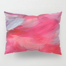 Kissing - Pink Abstract Painting Pillow Sham