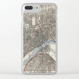 Vintage Map of St. Paul Minnesota (1894) Clear iPhone Case