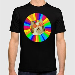 pizza loving cat T-shirt