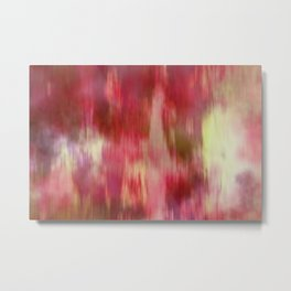 Red Fusion Illustration, Digital Watercolor Camo Blend - Fluid Art Metal Print