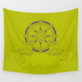 Dharmachakra – Wheel of Law Wall Tapestry