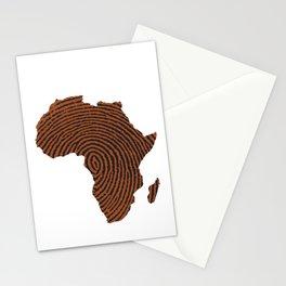Africa DNA Thumbprint flag. Africa pride design for African design Stationery Cards