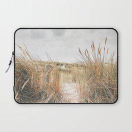 Dutch Dunes And Sea Photo | The Netherlands Landscape Photography | Dutch Landscape Laptop Sleeve