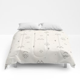 Death Valley in Ivory and Clay Comforters