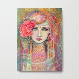 Gypsy Rose Bohemian Fantasy Artwork by Molly Harrison Metal Print