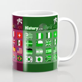 History of the World Cups Book Cover Coffee Mug