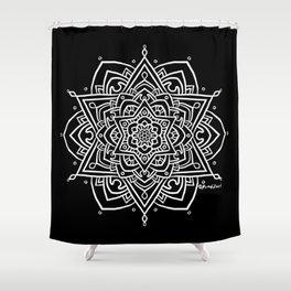 Floral Mandala B - White Shower Curtain