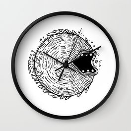 Surfer Phobia - Round Monster Fish Wall Clock