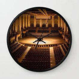 concert photography panorama Wall Clock