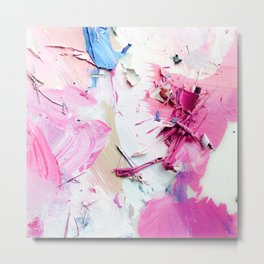 Pinky Swear (Abstract Paint Photograph) Metal Print