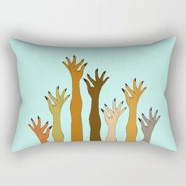 Hands Don't Judge - Size Don't Matter ... NOT! ;) Rectangular Pillow