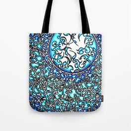 Blue Fire (2) Tote Bag