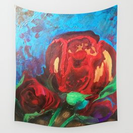 The Tulips Came Early Wall Tapestry
