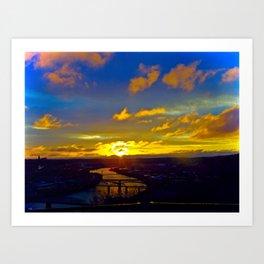 Sunrise River Art Print