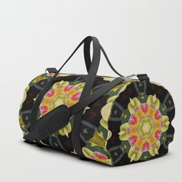 Green Orchid Flower Kaleidoscope Duffle Bag